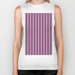 Violet Purple Stripes Pattern Biker Tank