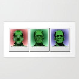 Polaroids of Frankenstein's Monster Art Print