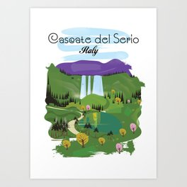 Cascate del Serio, Lombardia, italy, Art Print