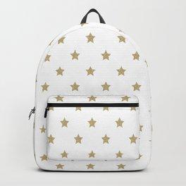 Gold Glitter Star Pattern Backpack