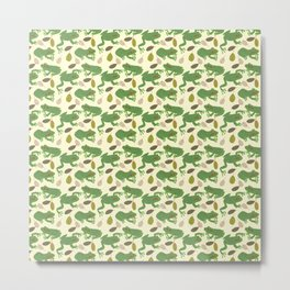 Fun Frogs with Leaves from Trees Metal Print