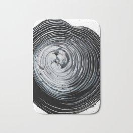 The Hole (Black and White) Bath Mat