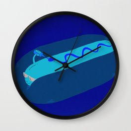 Wearing Lotion Before Getting Tanned Wall Clock