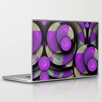 cycling Laptop & iPad Skins featuring Cool Cycling Circles by thea walstra