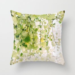 Eucalyptus Tree Throw Pillow