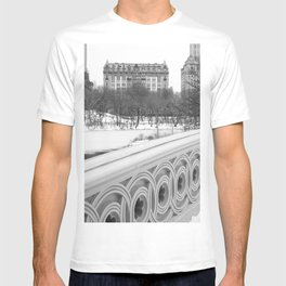On Bow Bridge, B&W Photography T-shirt