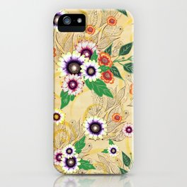 Psychedelic flowers  iPhone Case
