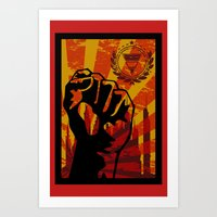 propaganda Art Prints featuring Propaganda I by blurdvizionz
