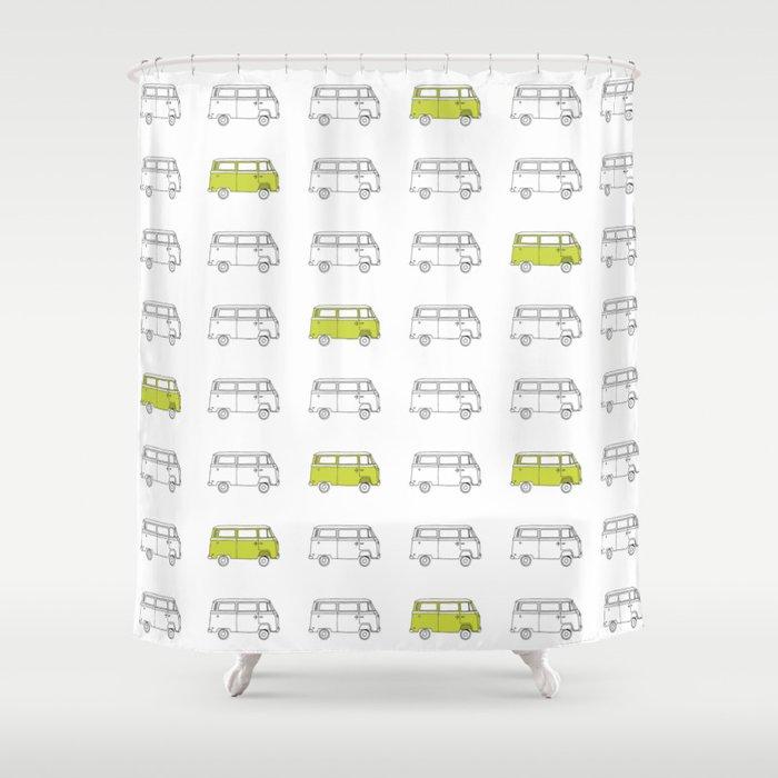 Hippie Van AKA V W Bus Shower Curtain By Lifeasyouliveit