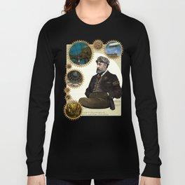 Jules Verne, a Steampunk vision Long Sleeve T-shirt