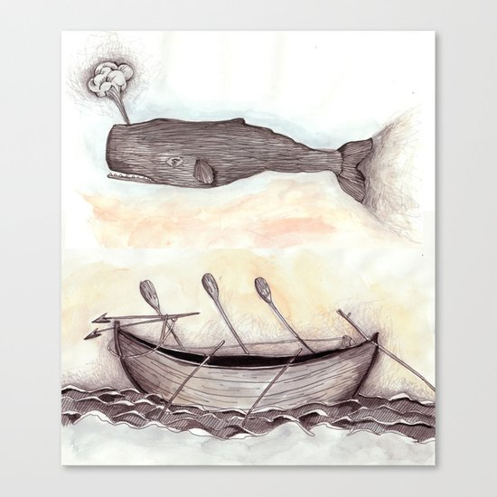 Whale Ship Canvas Print