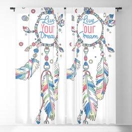 Live Your Dream Dream Catcher - Pastel Colors Blackout Curtain