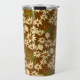 Flannel Flower Fields Travel Mug