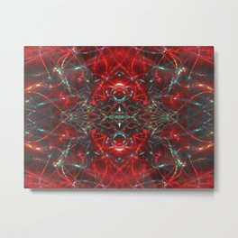 Red Gothic Laser Show Metal Print