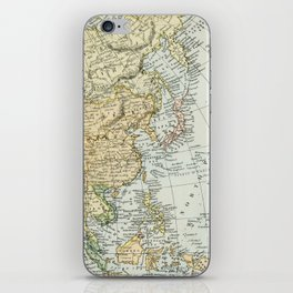 China, Russia, Japan Vintage Map iPhone Skin