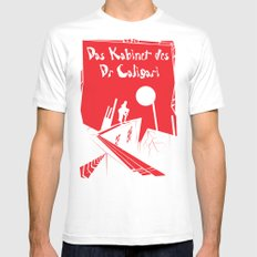 Das Kabinett Des Dr Caligari White MEDIUM Mens Fitted Tee