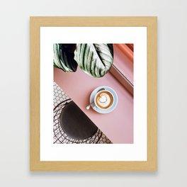pink latte Framed Art Print