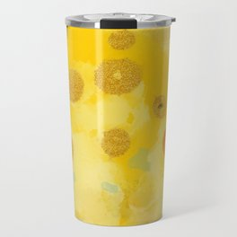 Abstract autumn with gold and warm light Travel Mug