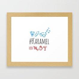 karamel emoji Framed Art Print