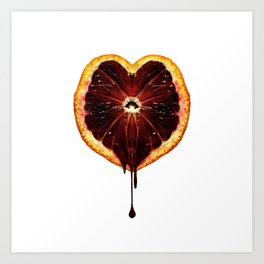 Blood Orange Heart Art Print