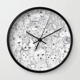 Les Chiens Wall Clock