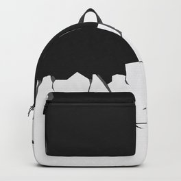 Abstract Black and White Wallpaper Backpack