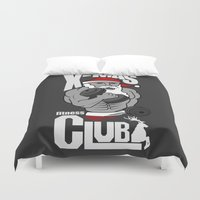 fitness Duvet Covers featuring X-mas fitness club by tshirtsz