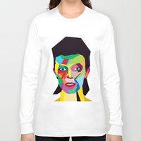 bowie Long Sleeve T-shirts featuring bowie by mark ashkenazi