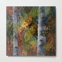 Birch Trees - III Metal Print