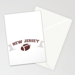 Just a Baller from New Jersey Football Player Stationery Cards