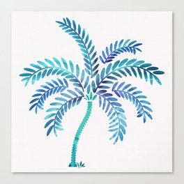 Whimsical Watercolor Palm Tree Canvas Print