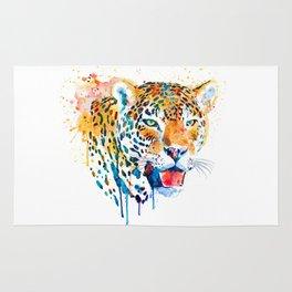 Leopard Head Portrait Rug