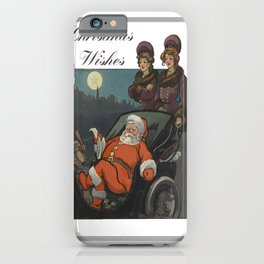 Vintage Christmas Wishes Greeting Card  iPhone Case