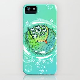 Bacillus B0b on bubble-transport iPhone Case