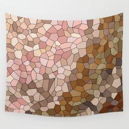 Skin Tone Mosaic Wall Tapestry