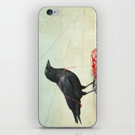 freedom  _ black crow iPhone Skin