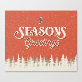 Seasons Greetings - Holiday Cheer Canvas Print