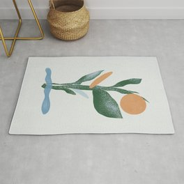 Plant made of abstract shapes Rug