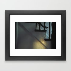 Down the Stairs Framed Art Print
