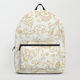 Golden floral garden Backpack