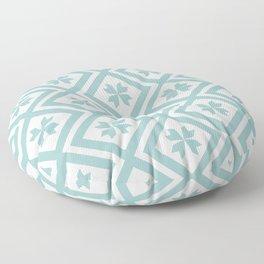 Geometric Squares - Pastel Turquoise Floor Pillow