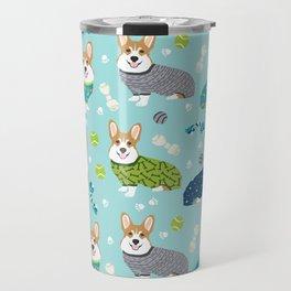 Corgi pajamas welsh corgi in pjs pattern print cute dog gifts custom dog portrait Travel Mug