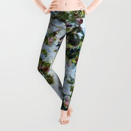"Claude Monet ""The Rose Bush"" Leggings"