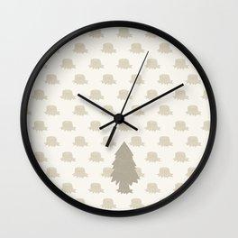 The Last Christmas Tree Wall Clock