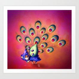 Lil' Peacock Art Print
