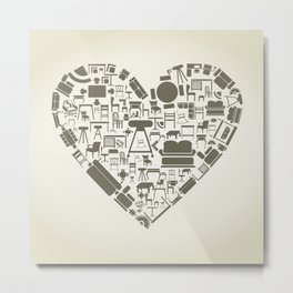 Furniture heart Metal Print