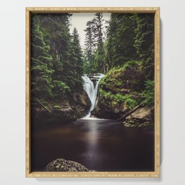 Pure Water - Landscape and Nature Photography Serving Tray