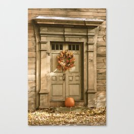 Decorated for Fall Canvas Print