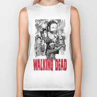 walking dead Biker Tanks featuring Walking Dead by Matt Fontaine