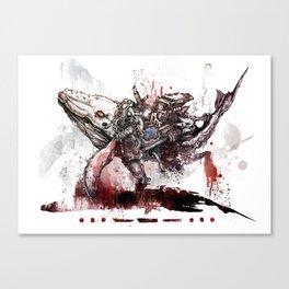 Whale SOS Canvas Print